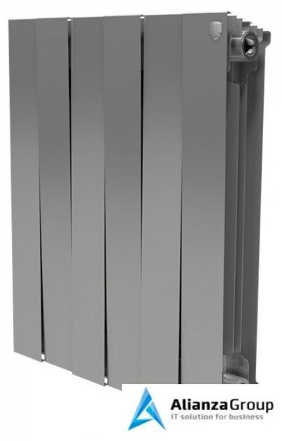 Биметаллический радиатор Royal Thermo Piano Forte 500 Silver Satin 12 секц.