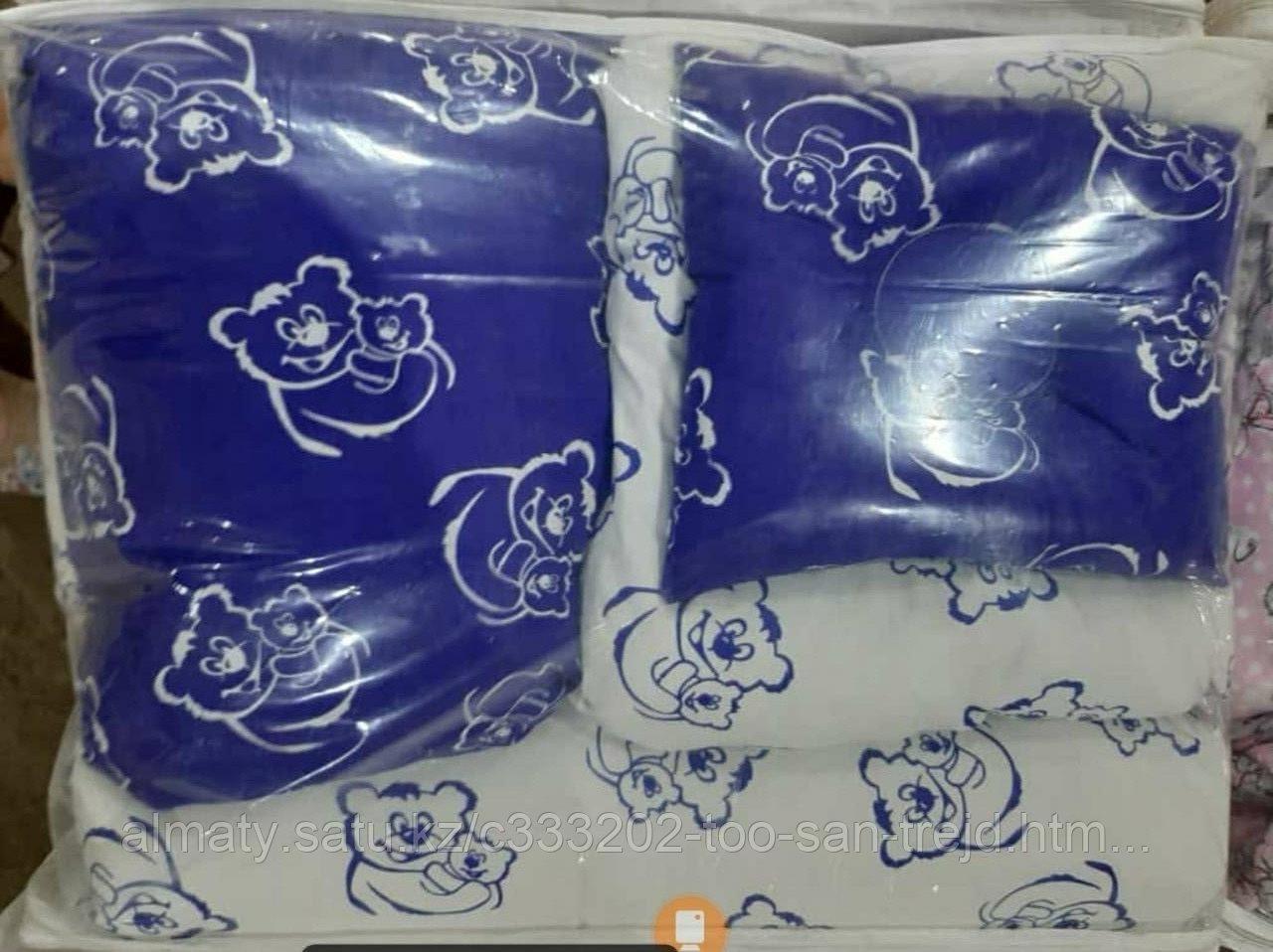 Набор детского постельного белья из 17 предметов(для кроватки-манежа),расцветки уточняем