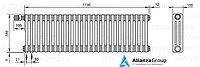 Стальной трубчатый радиатор 3-колончатый Zehnder Completto 3057/22