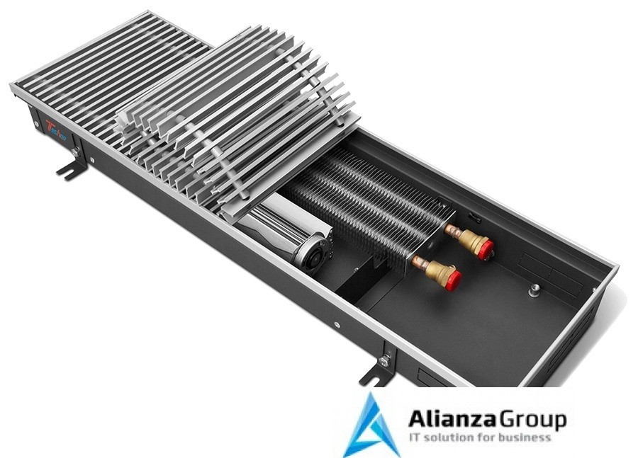 Внутрипольный конвектор длиной 1,6 м - 2 м Techno Vent KVZV 350-105-2000