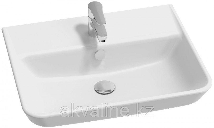 STRUKTURA Раковина 60x48 с отв.для смесителя,сл.пер.,белый