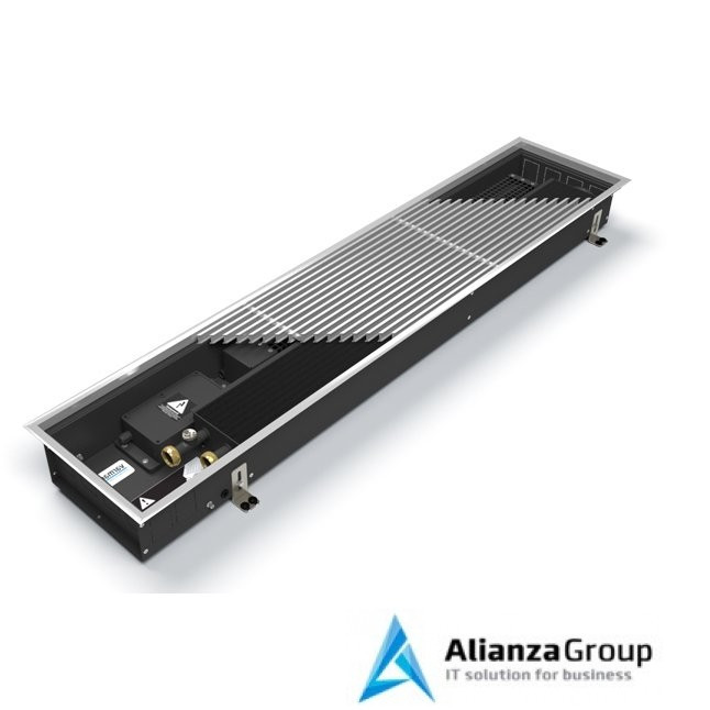 Внутрипольный конвектор длиной 2,1 м - 3 м Varmann Qtherm 230x150x2250