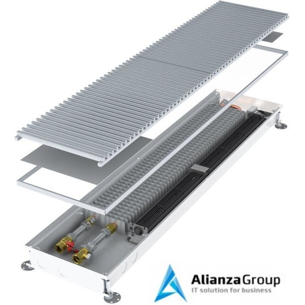 Внутрипольный конвектор длиной 1,1 м - 1,5 м Minib COIL-T60 1500