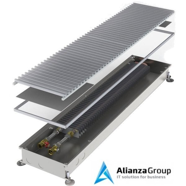 Внутрипольный конвектор длиной 2,1 м - 3 м Minib COIL-P 3000