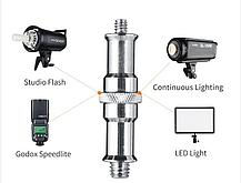 """Студиные стойки  с пружинами 280 см для студийного света до 15 кг с алюминиевой головкой 1/4 """" - 3/8 """", фото 2"""
