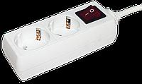 Удлинитель У02К-выкл. 2 места 2Р+РЕ/3 метра 3х1мм2 16А/250 IEK