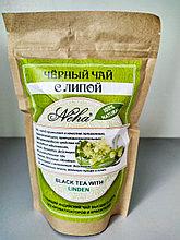Чай черный,натуральный, крупнолистовой с липой. NEHA Black tea with LINDEN  100г. Индия .