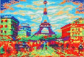 """Картины стразами на подрамнике """"Сердце Парижа"""" 30х40 см  СТРАЗЫ КРУГЛЫЕ"""