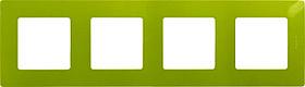 Рамка 4 мест зел.папоротник ETIKA /672544/
