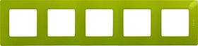 Рамка 5 мест зел.папоротник ETIKA /672545/