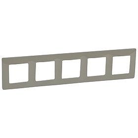 Рамка 5 мест светлая галька ETIKA /672525/