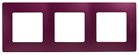 Рамка 3Поста сливовый ETIKA /672563/