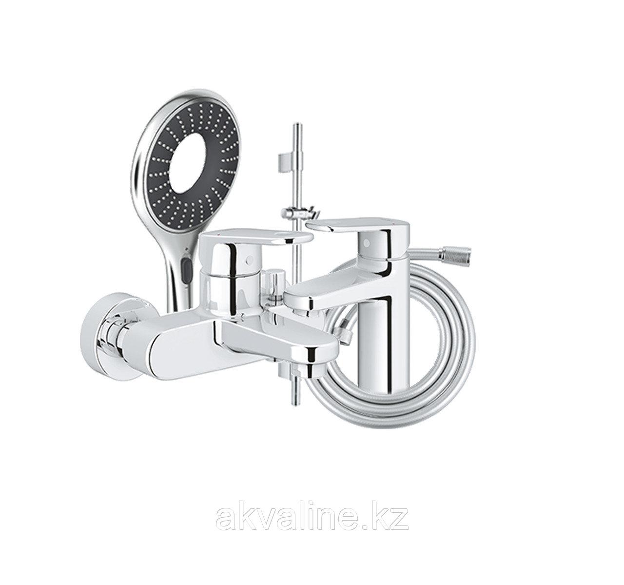 Комплект смеситель для ванны Europlus II , штанга 600мм, ручной душ, шланг, смеситель для раковины