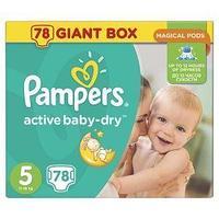 Pampers Подгузники Pampers, Active Baby Junior , 5, XL, 78 шт/упак.