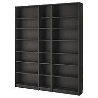 Стеллаж БИЛЛИ черно-коричневый 200x28x237 см ИКЕА, IKEA, фото 1