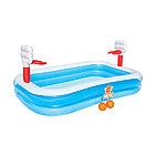 Детский надувной игровой бассейн BESTWAY Basketball 3+ 54122 (251х168х102 см, Винил, 636 л)