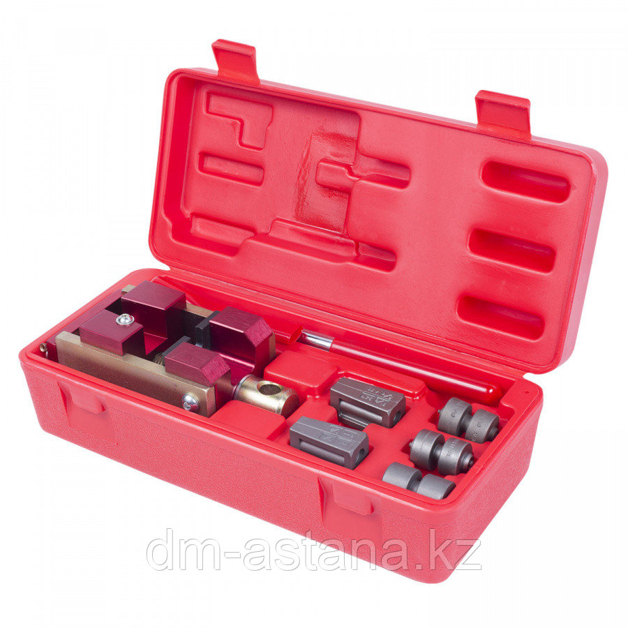 МАСТАК Приспособление для развальцовки тормозных трубок, 4,75, 6 мм, кейс, 7 предметов МАСТАК 102-10046C