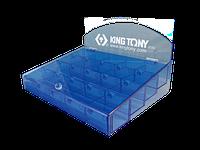 KING TONY Стенд для вставок (бит), 20 отделений KING TONY 87352