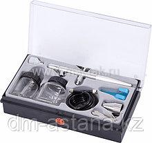МАСТАК Аэрограф, сопло 0,3 мм, комплект принадлежностей, 8 предметов МАСТАК 678-108