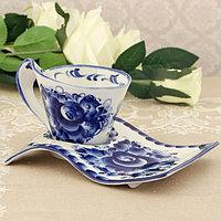 Чайный набор «Подарочный», 20×10×10 см, 0,25 л, гжель