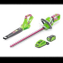 Промо-комплект Monferme ножницы аккумуляторные + воздуходувка 40V-4AH (22277M+24157M+29477+29467)