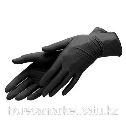 Перчатки нитриловые черные Medium (100 шт), фото 2