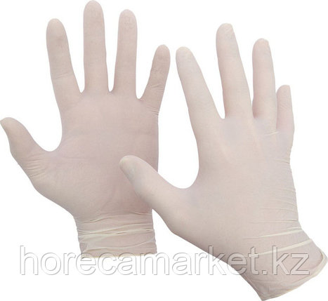 Перчатки латекс неопудренные, размер - L (100 шт), фото 2