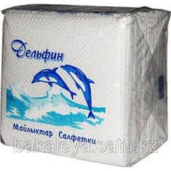 """Салфетки """"Дельфин"""" Белые 75 штук"""