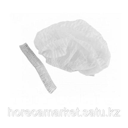 Одноразовая шапочка белая (100 шт), фото 2