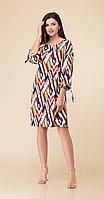 Платье Дали-2486, коричневые тона, 46