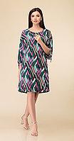 Платье Дали-2486/2, зеленые тона, 44