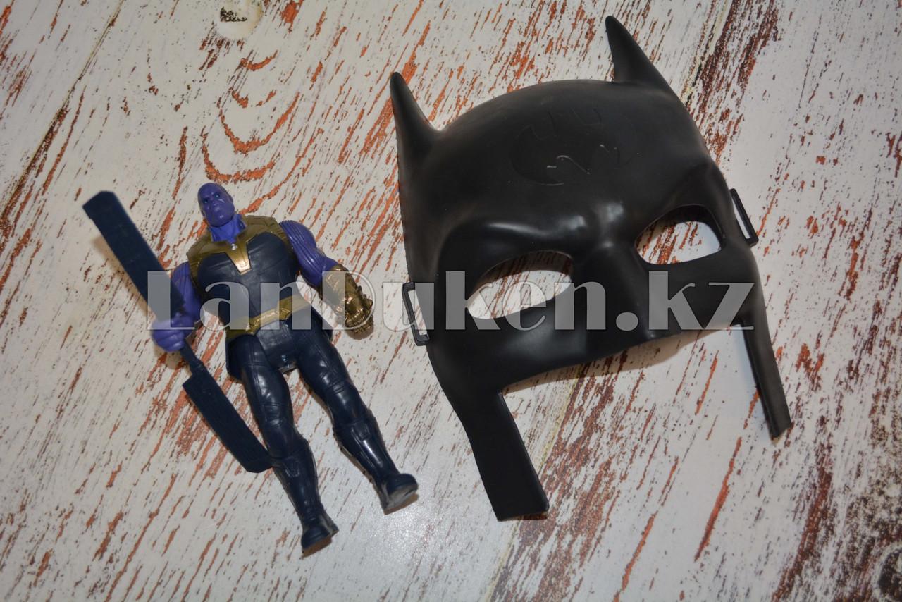 Набор детская маска и фигурка Танос 16.5 см серия Мстители - фото 3