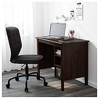 БРУСАЛИ Письменный стол, коричневый, коричневый 90x52 см, фото 1