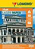 Бумага А4 для цветной лазерной печати Ломонд 200g Матовая