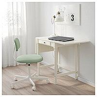 ИНГАТОРП Письменный стол, белый, белый 73x50 см, фото 1