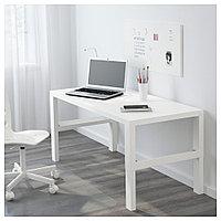 ПОЛЬ Письменный стол, белый, белый 128x58 см, фото 1
