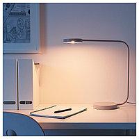 ЮППЕРЛИГ Настольная лампа, светодиодная, светло-серый, светло-серый