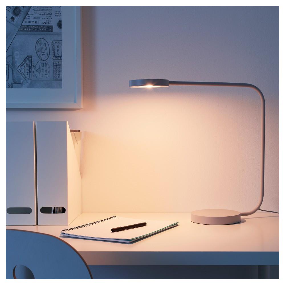 ЮППЕРЛИГ Настольная лампа, светодиодная, светло-серый, светло-серый - фото 1