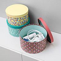 ЛАНКМОЙ Набор коробок с крышкой, 3шт, разноцветный, бумага