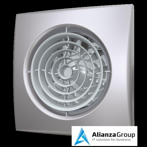 Вытяжка для ванной диаметр 100 мм ERA AURA 4C gray metal