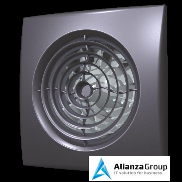 Вытяжка для ванной диаметр 125 мм ERA AURA 5C dark gray metal