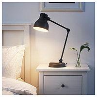 ХЕКТАР Лампа/устройств д/беспровод зарядки, темно-серый, темно-серый