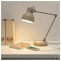 ХЕКТАР Лампа/устройств д/беспровод зарядки, бежевый, бежевый