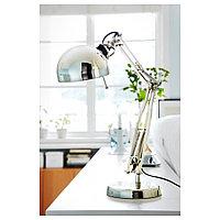 ФОРСО Лампа рабочая, никелированный, никелированный