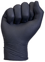 Перчатки виниловые, чёрные, размер S,M,L