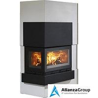 Готовый дровяной комплект ABX Norfolk (угловой) черная сталь