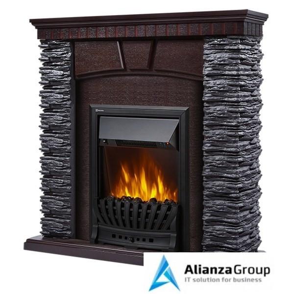 Электрокамин (очаг+портал) Electrolux Porto Classic камень черный, шпон венге с очагом CLASSIC EFP/P-1020LS