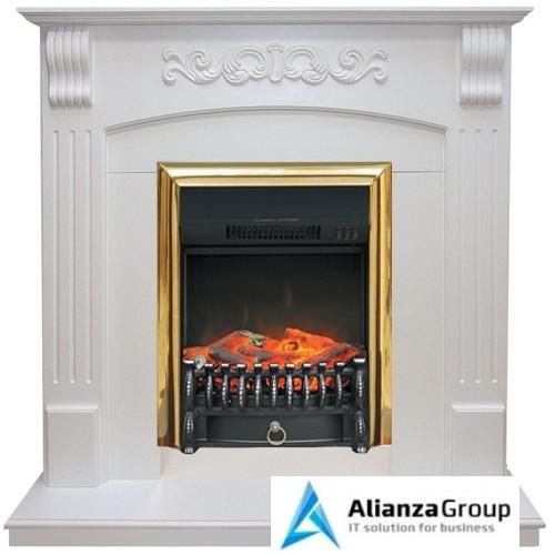 Электрокамин (очаг+портал) Royal Flame Sorrento с очагом Fobos FX Black/Brass