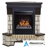 Электрокамин (очаг+портал) Real-Flame Stone Corner new STD/EUG/VL с очагом 3D Olympic
