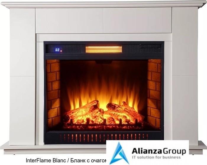 Деревянный камин (портал+очаг) InterFlame Blanc / Бланк с очагом Antares 31Led F/X Q